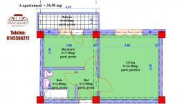 Detalii apartament 1 camera ansamblul rezidential PANORAMIC RESIDENCE 4 VALEA ADINCA