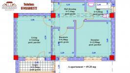 Detalii apartament 2 camere ansamblul rezidential PANORAMIC RESIDENCE 4 VALEA ADINCA